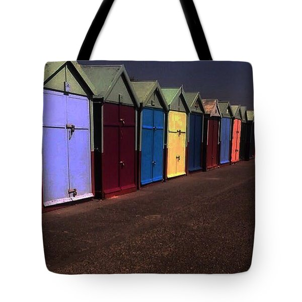 Brighton Beach Huts Tote Bag
