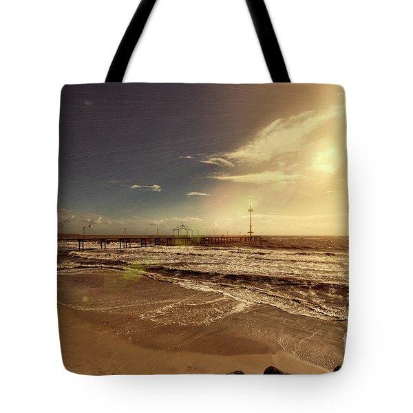 Brighton Beach Pier Tote Bag by Douglas Barnard