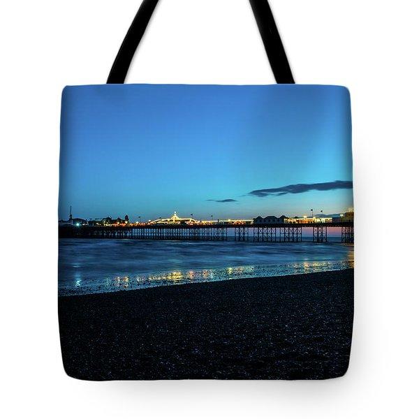 Brighton Pier At Sunset Ix Tote Bag