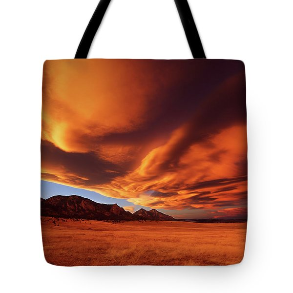 Brilliance Over Boulder Tote Bag