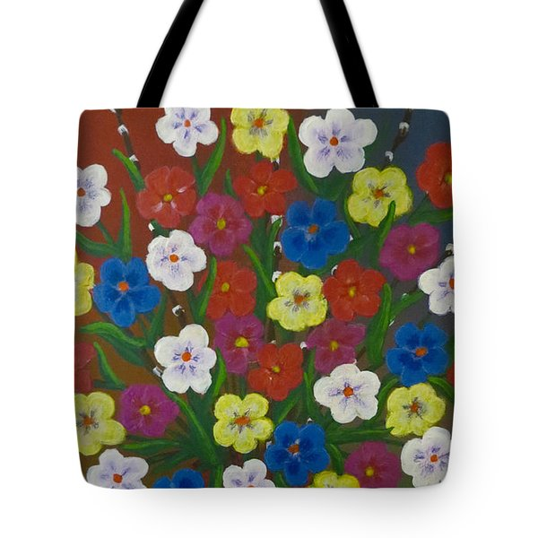 Brilliant Bouquet Tote Bag by Teresa Wing
