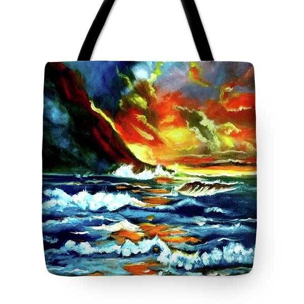 Brilliant Hawaiian Sunset Tote Bag