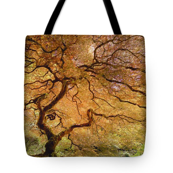 Tote Bag featuring the photograph Brilliant Japanese Maple by Wanda Krack