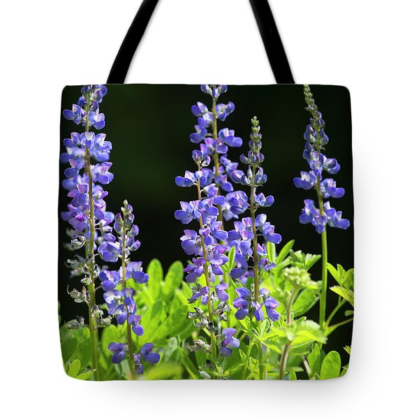 Tote Bag featuring the photograph Brilliant Lupines by Elvira Butler
