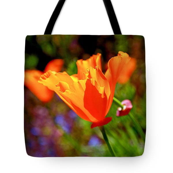 Tote Bag featuring the photograph Brilliant Spring Poppies by Rona Black
