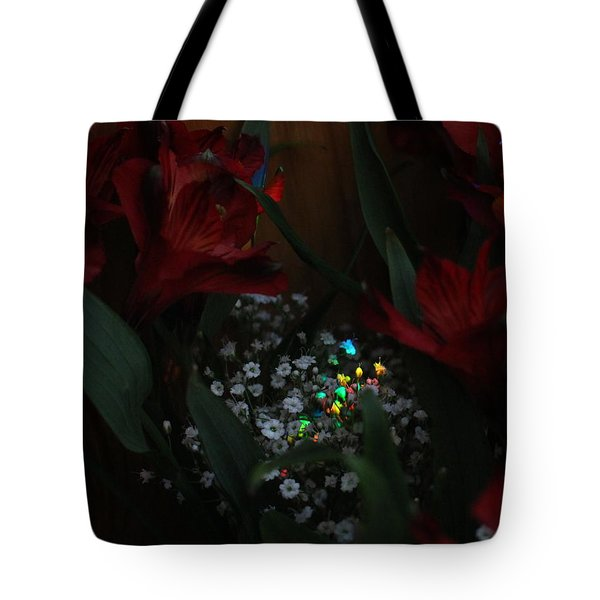 Tote Bag featuring the photograph Brilliantly Shy by Marie Neder