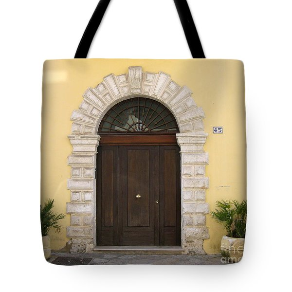 Brindisi By The Sea Door Tote Bag