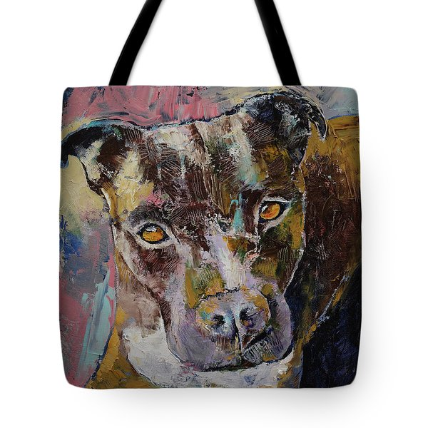 Brindle Bully Tote Bag