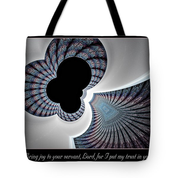 Tote Bag featuring the digital art Bring Joy by Missy Gainer