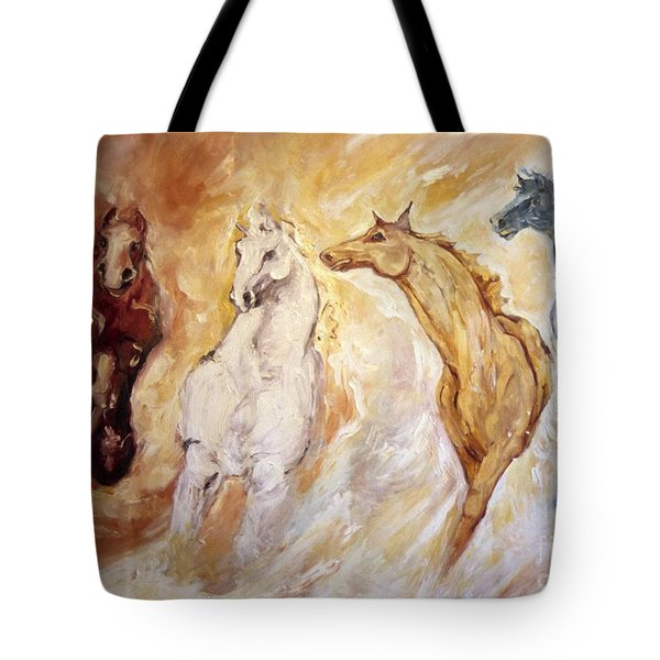 Bringers Of The Dawn Section Of Mural Tote Bag
