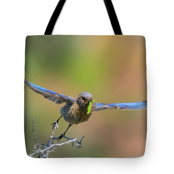 Bringing Home Breakfast Tote Bag by Mike Dawson