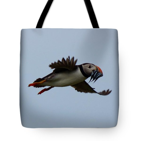 Bringing Home The Dinner Tote Bag by David Grant