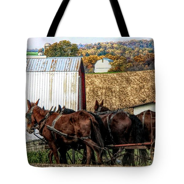 Bringing It Home In Lancaster County, Pennsylvania Tote Bag