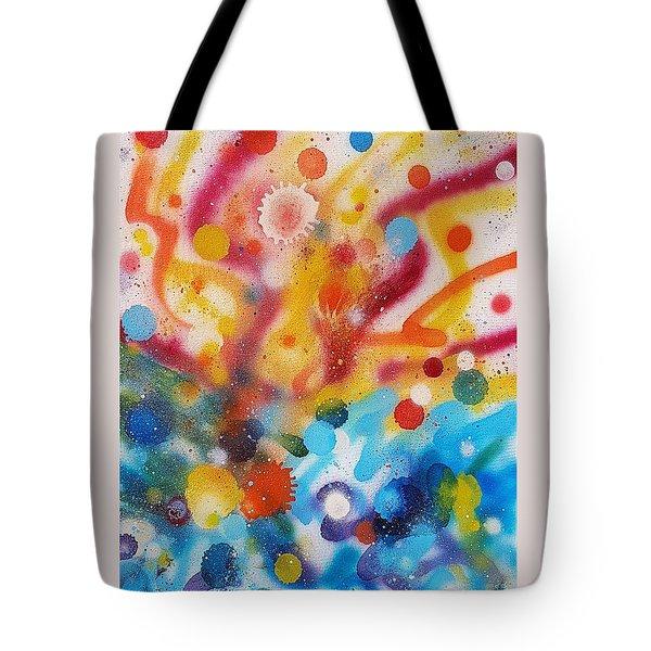 Bringing Life Spray Painting  Tote Bag