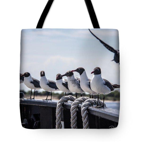 Bringing Up The Rear Tote Bag by Phil Mancuso