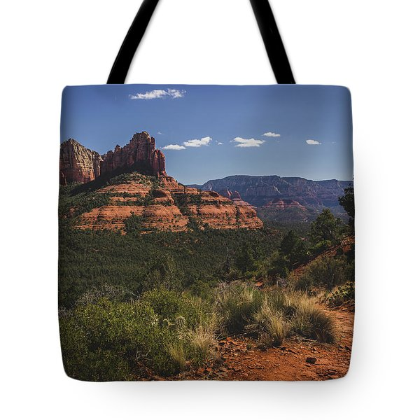 Tote Bag featuring the photograph Brins Mesa Trail Vista by Andy Konieczny