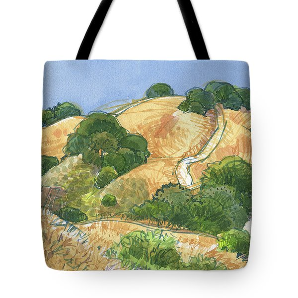 Tote Bag featuring the painting Briones Crest Trail In June by Judith Kunzle