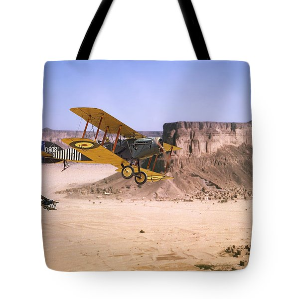 Tote Bag featuring the photograph Bristol Fighter - Aden Protectorate  by Pat Speirs