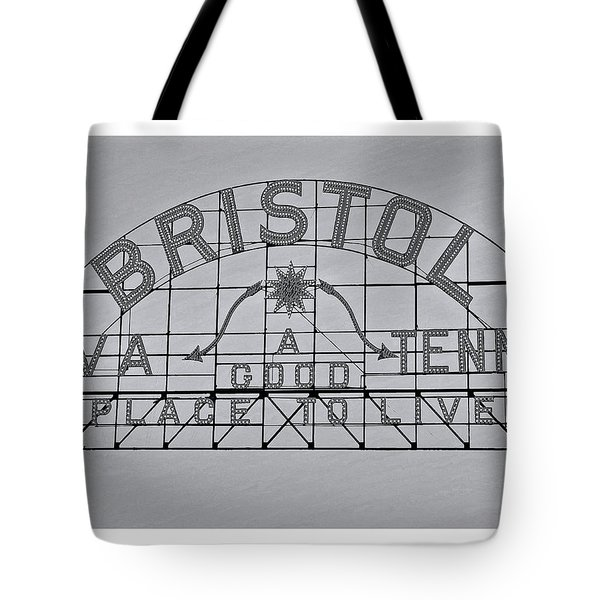 Bristol Slogan Sign Va Tn Tote Bag