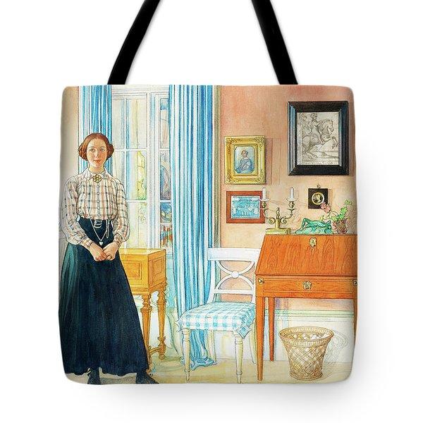 Brita In The Drawing Room Tote Bag