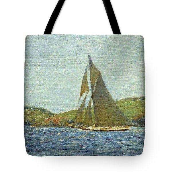 Tote Bag featuring the painting Britannia by Henry Scott Tuke