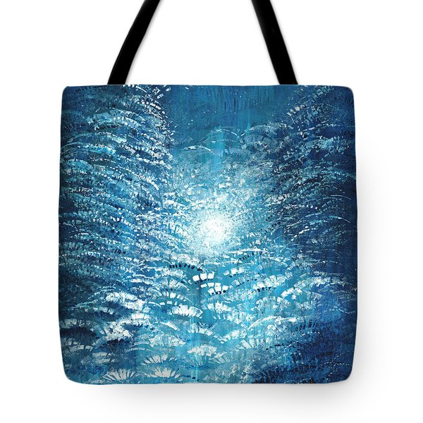 Tote Bag featuring the painting Brite Nite by Holly Carmichael