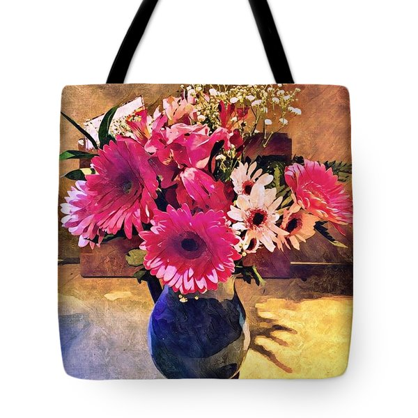 Brithday Wish Bouquet Tote Bag