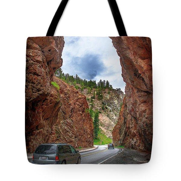 British Columbia Highway 93, Radium Hot Springs Tote Bag