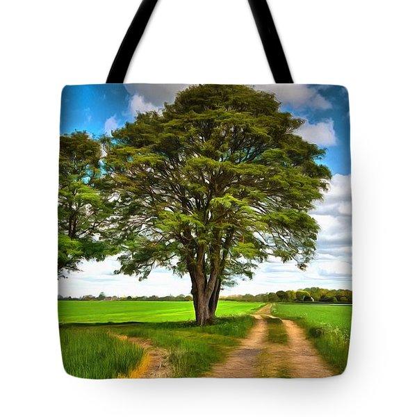 British Countryside View Tote Bag