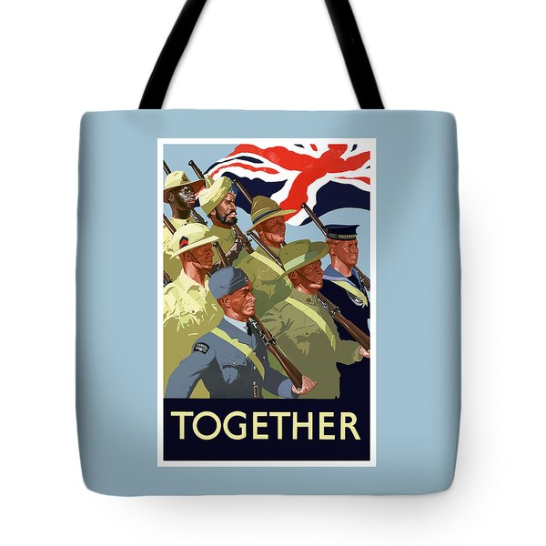 British Empire Soldiers Together Tote Bag