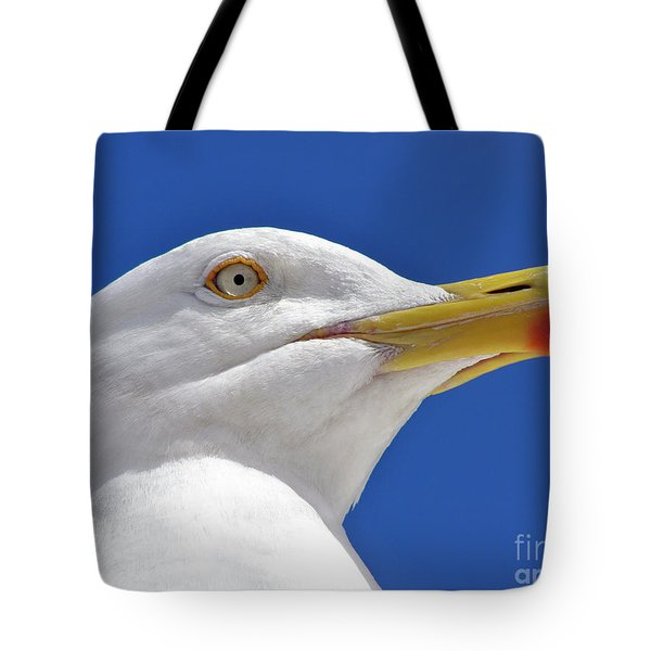 Tote Bag featuring the photograph British Herring Gull by Terri Waters
