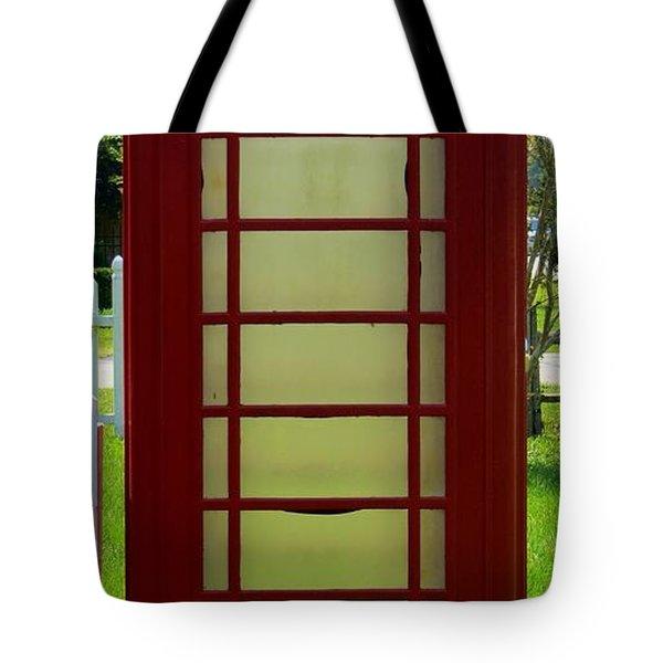 British Phone Box Tote Bag by Tim Townsend