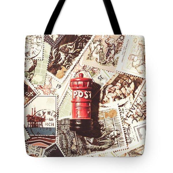 British Post Box Tote Bag