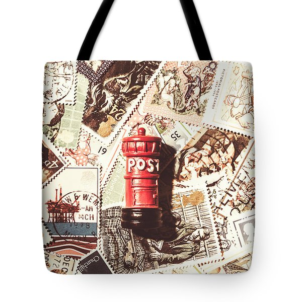 Tote Bag featuring the photograph British Post Box by Jorgo Photography - Wall Art Gallery