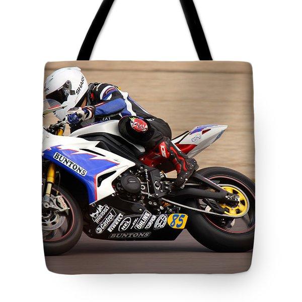 British Superbike Tote Bag by David Warrington