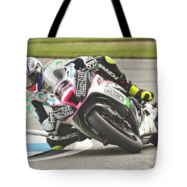 British Superbikes Tote Bag by Peter Hatter
