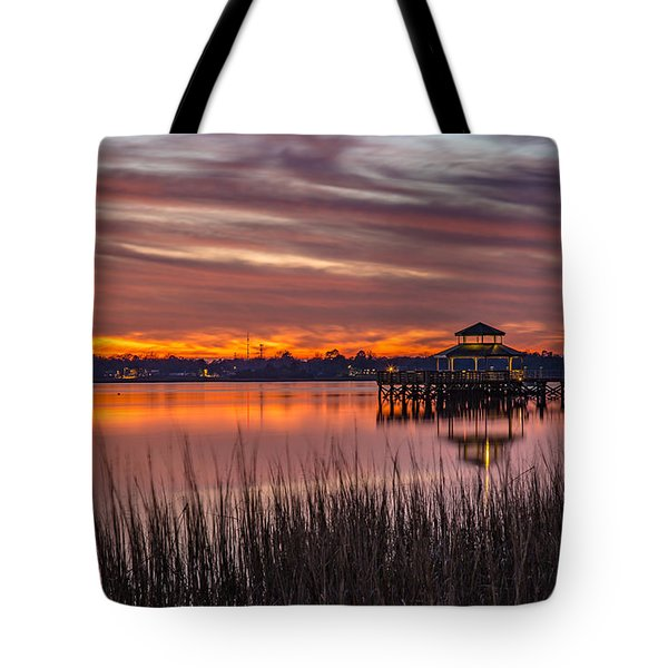 Brittlebank Park Dock Charleston Sc Tote Bag