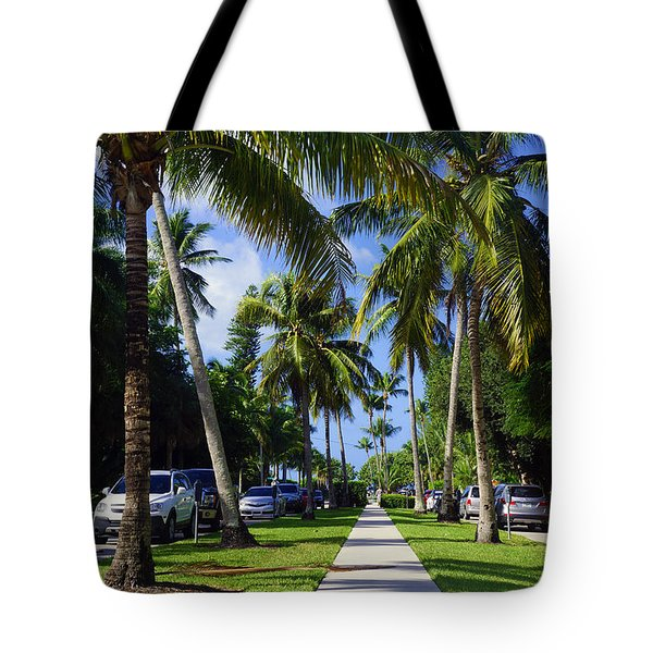 Broad Avenue South, Old Naples Tote Bag by Robb Stan