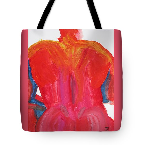 Broad Back Red Tote Bag