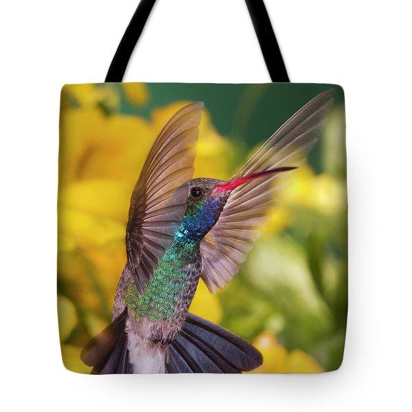 Broad-bill Pose Tote Bag by Janet Fikar