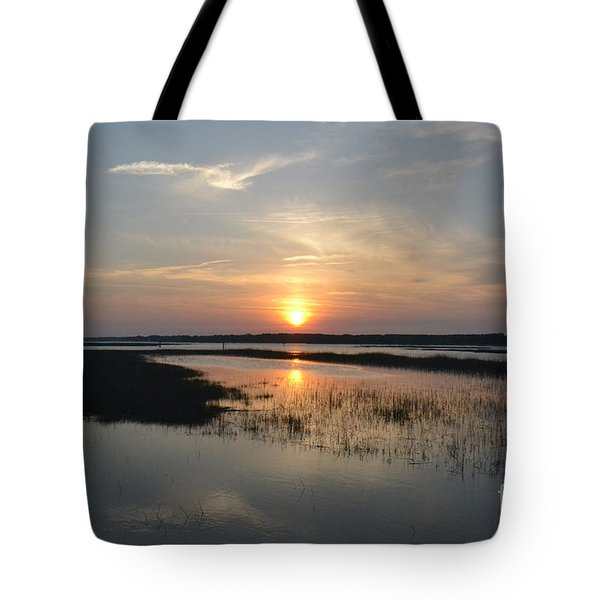 Tote Bag featuring the photograph Broad Creek Sunset by Carol  Bradley