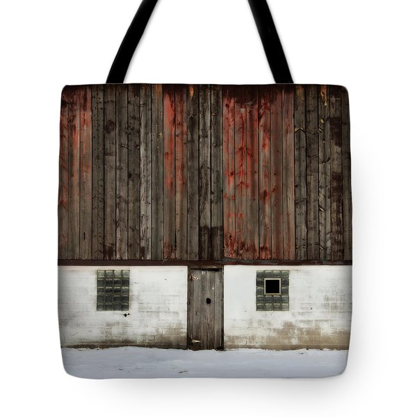 Tote Bag featuring the photograph Broad Side Of A Barn by Julie Hamilton