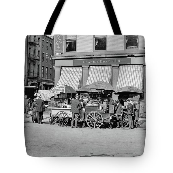 Broad St. Lunch Carts New York Tote Bag