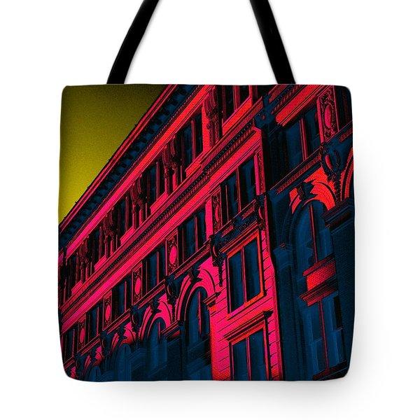 Broadway 118 In Fuschia Tote Bag by Edgar Farrera