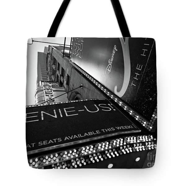 Tote Bag featuring the photograph Broadway  -27868-bw by John Bald