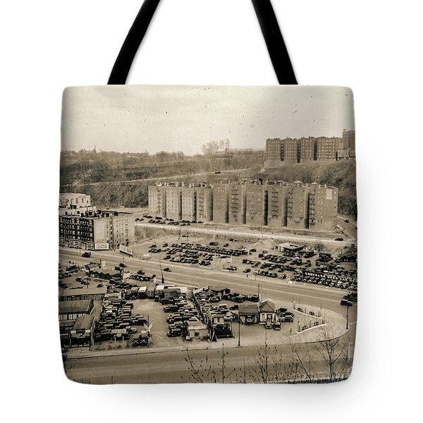 Broadway And Nagle Ave 1936 Tote Bag by Cole Thompson