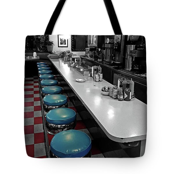 Broadway Diner Chairs Tote Bag