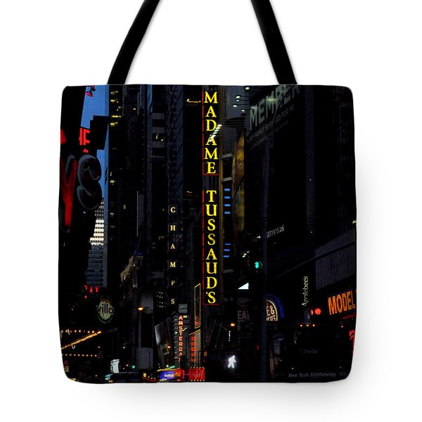 Broadway Lights New York City Tote Bag by Diane Lent