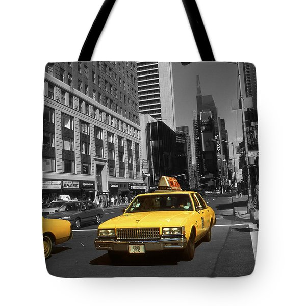 New York Broadway - Yellow Taxi Cabs Tote Bag