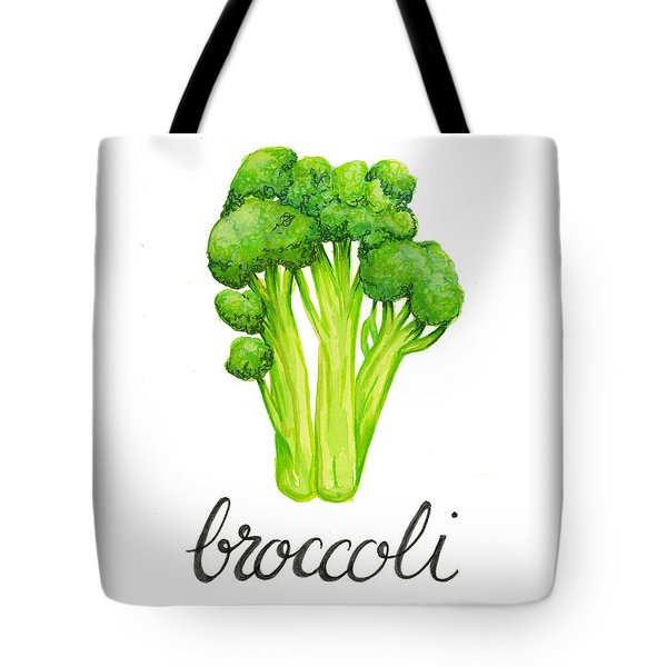 Tote Bag featuring the painting Broccoli by Cindy Garber Iverson